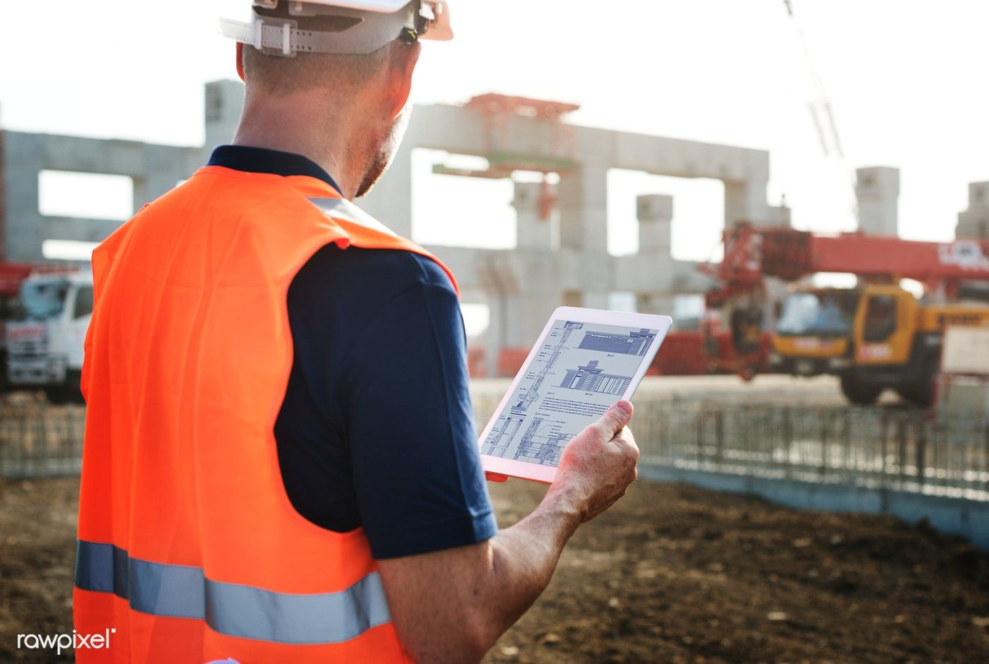 Download premium image of site engineer on a construction