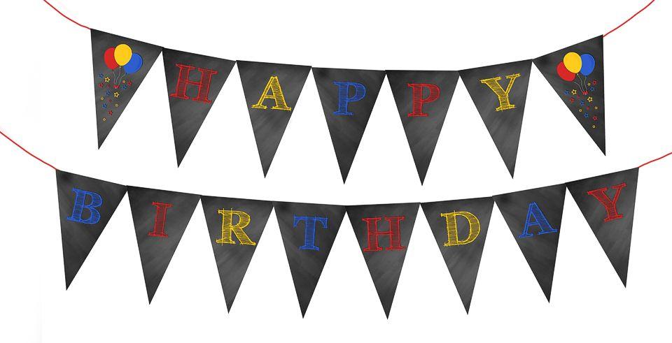 Printable Birthday Banner ~ Happy birthday bunting banner {free printable} diy crafts