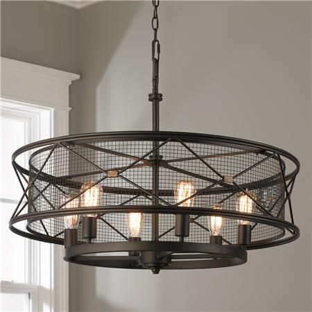 X Cage Urban 6 Light Chandelier Lighting Pinterest