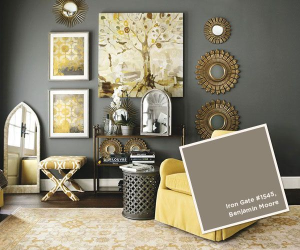Behr Irongate Google Search Living Room Grey Yellow Living Room Interior