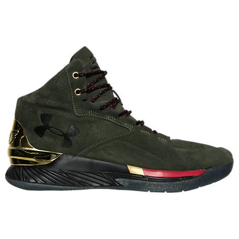 Men's Under Armour Curry 1 Luxury Mid Suede Basketball Shoes| Finish Line