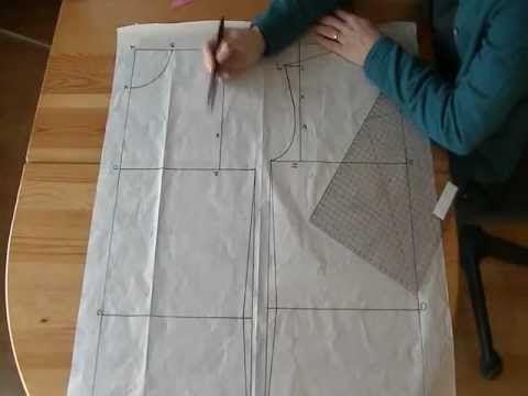 3b94577f3906 Tutorial  Come fare il cartamodello base del corpetto o body - YouTube