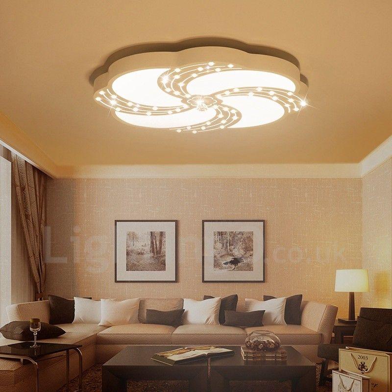 Modern Contemporary Led Integrated Living Room Dining Room Bed Room Metal Flush Mount Lightingo Co Uk In 2020 Living Dining Room Led Ceiling Light Fixtures Ceiling Lights