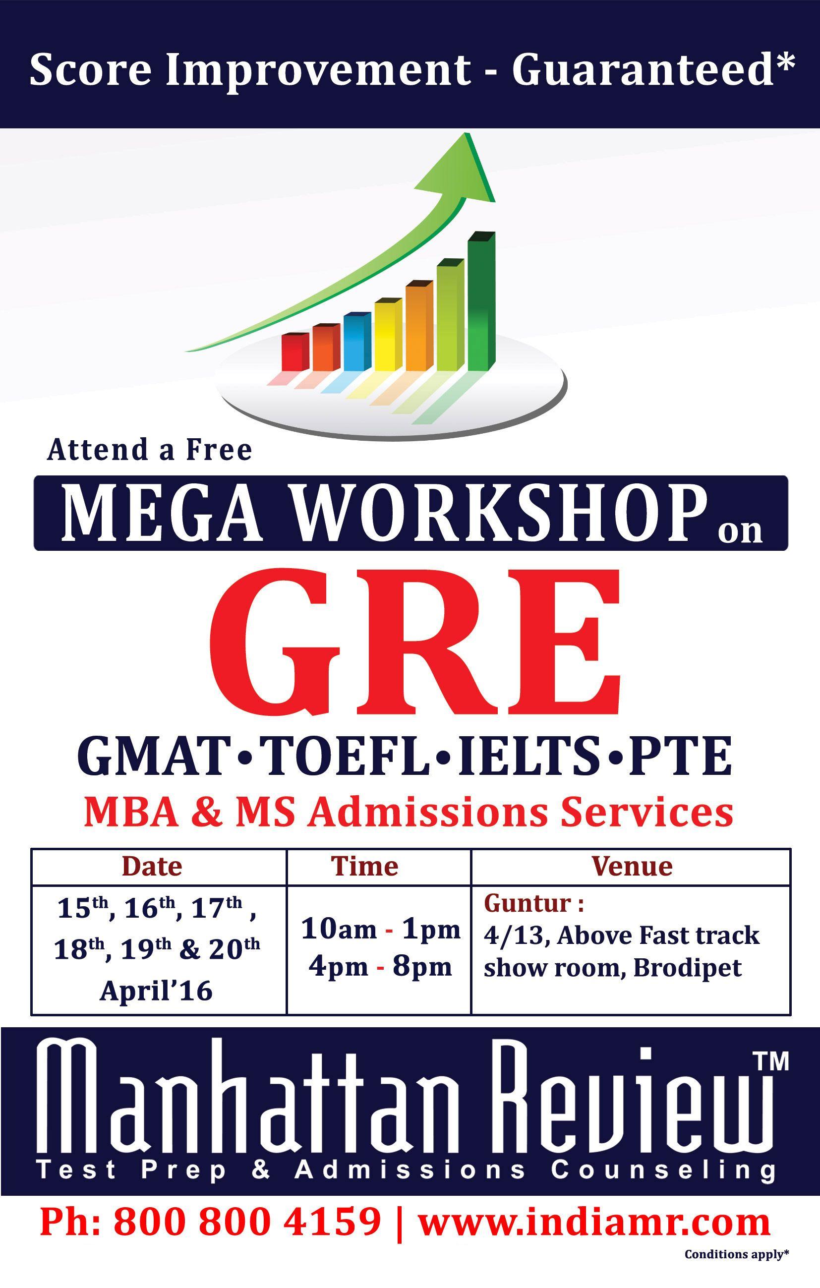 Attend A Free Mega Workshop On Gre Score Improvement Guaranteed