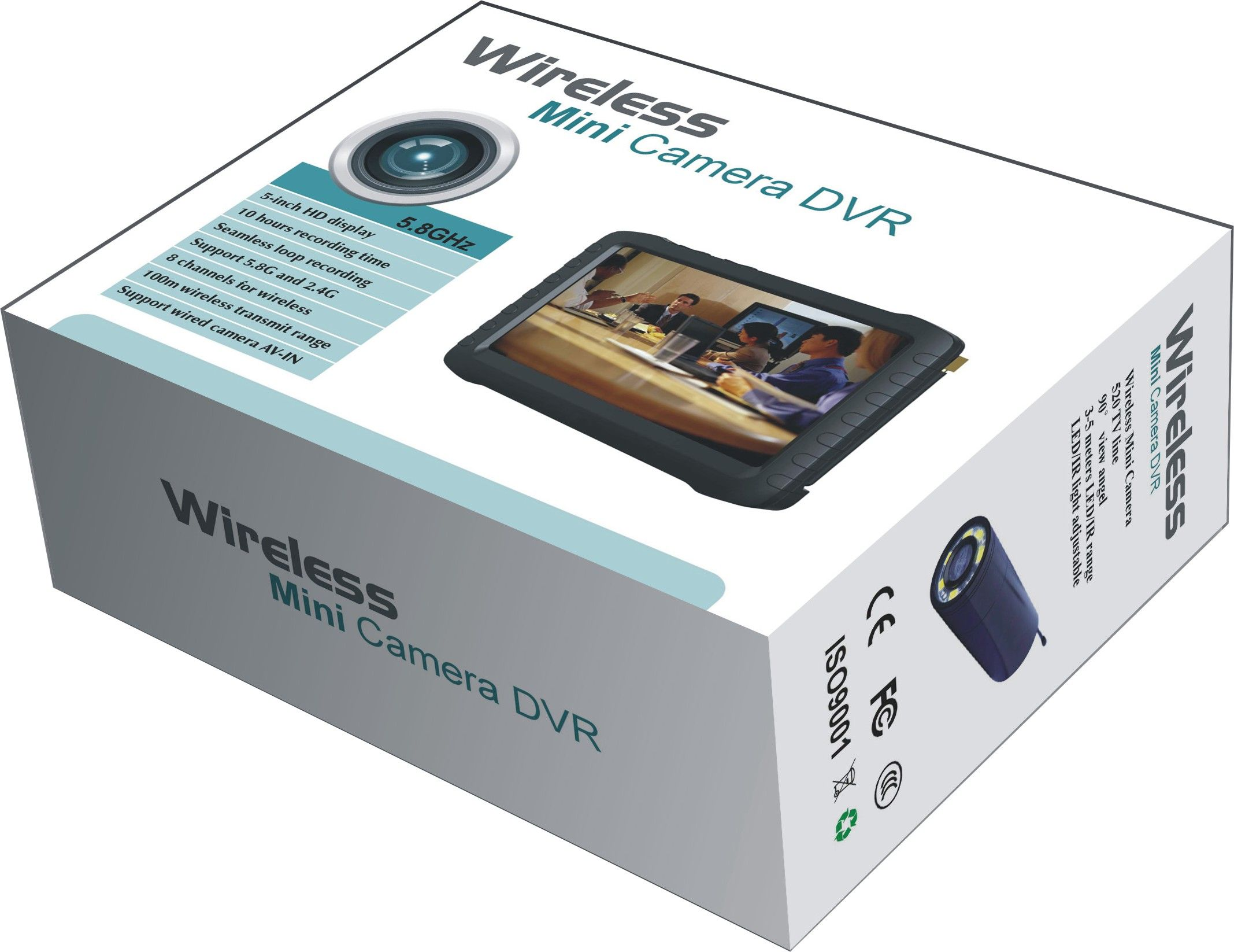 24GHz Wireless Camera With Monitor TE810H