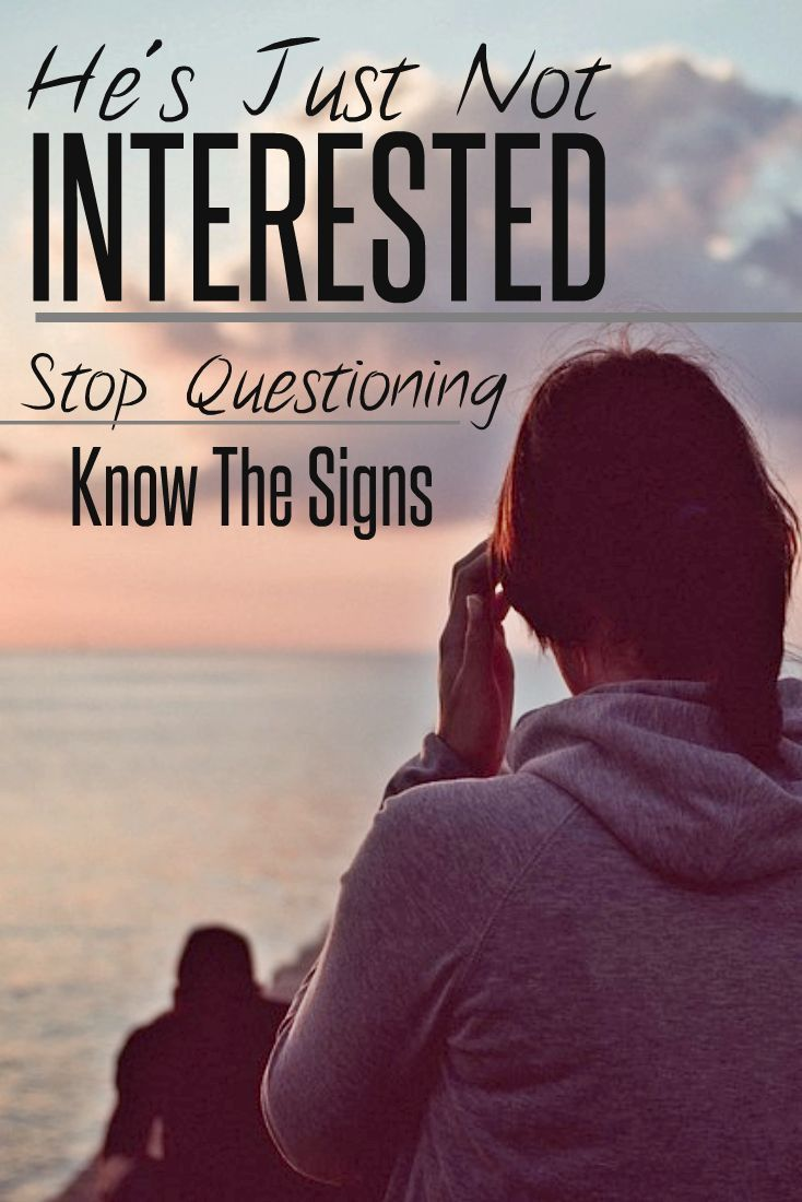 how to know if a guy is not interested