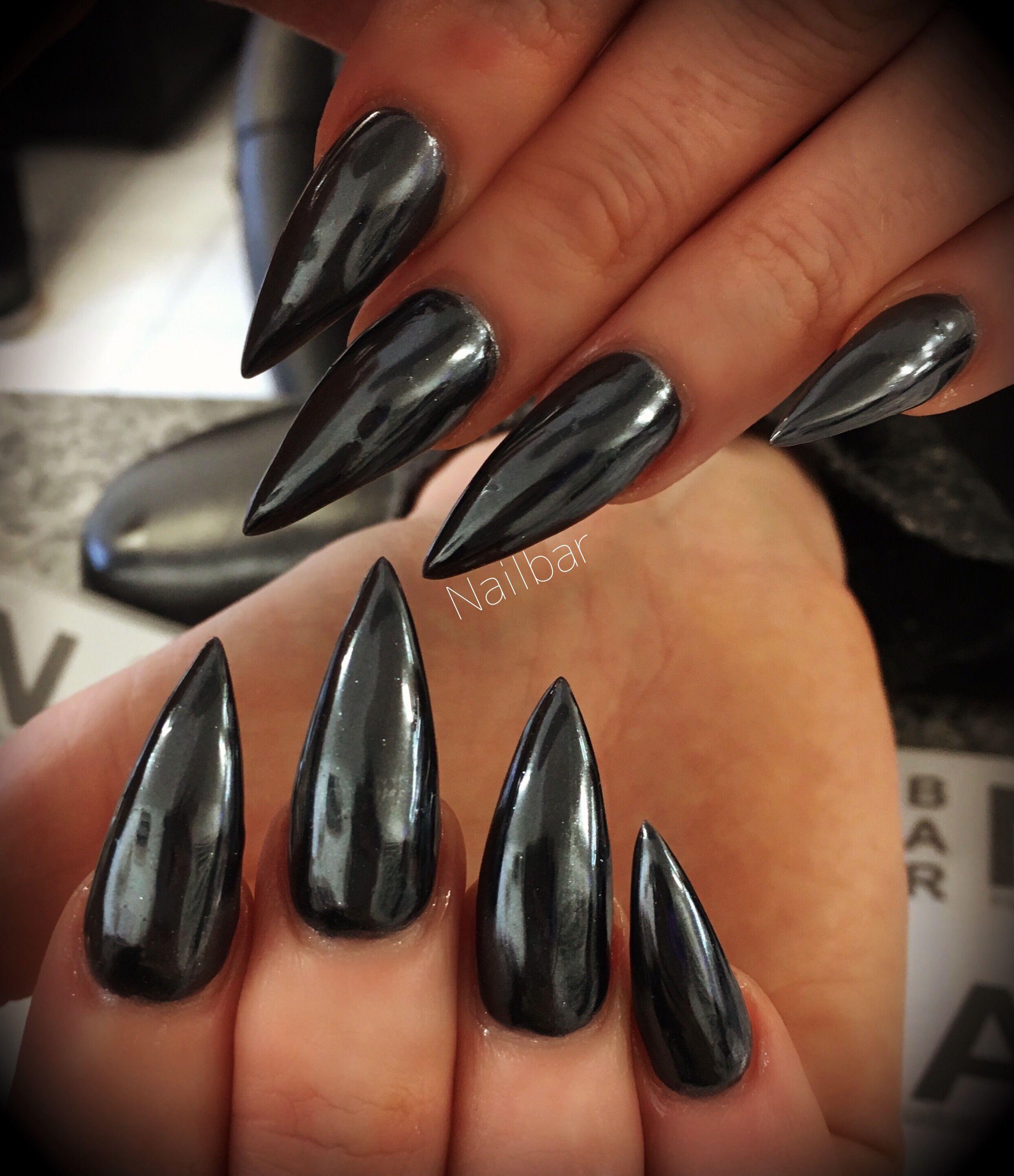Black Chrome Black Chrome Nails Chrome Nails Black Crome Nails