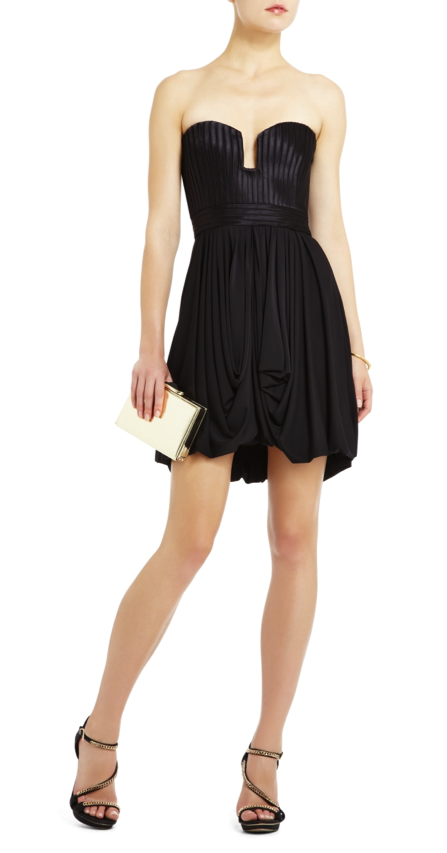 "be21b2c50147 A beautiful dress for a black tie wedding - BCBG ""Moselle Strapless Peplum  Cocktail Dress"""