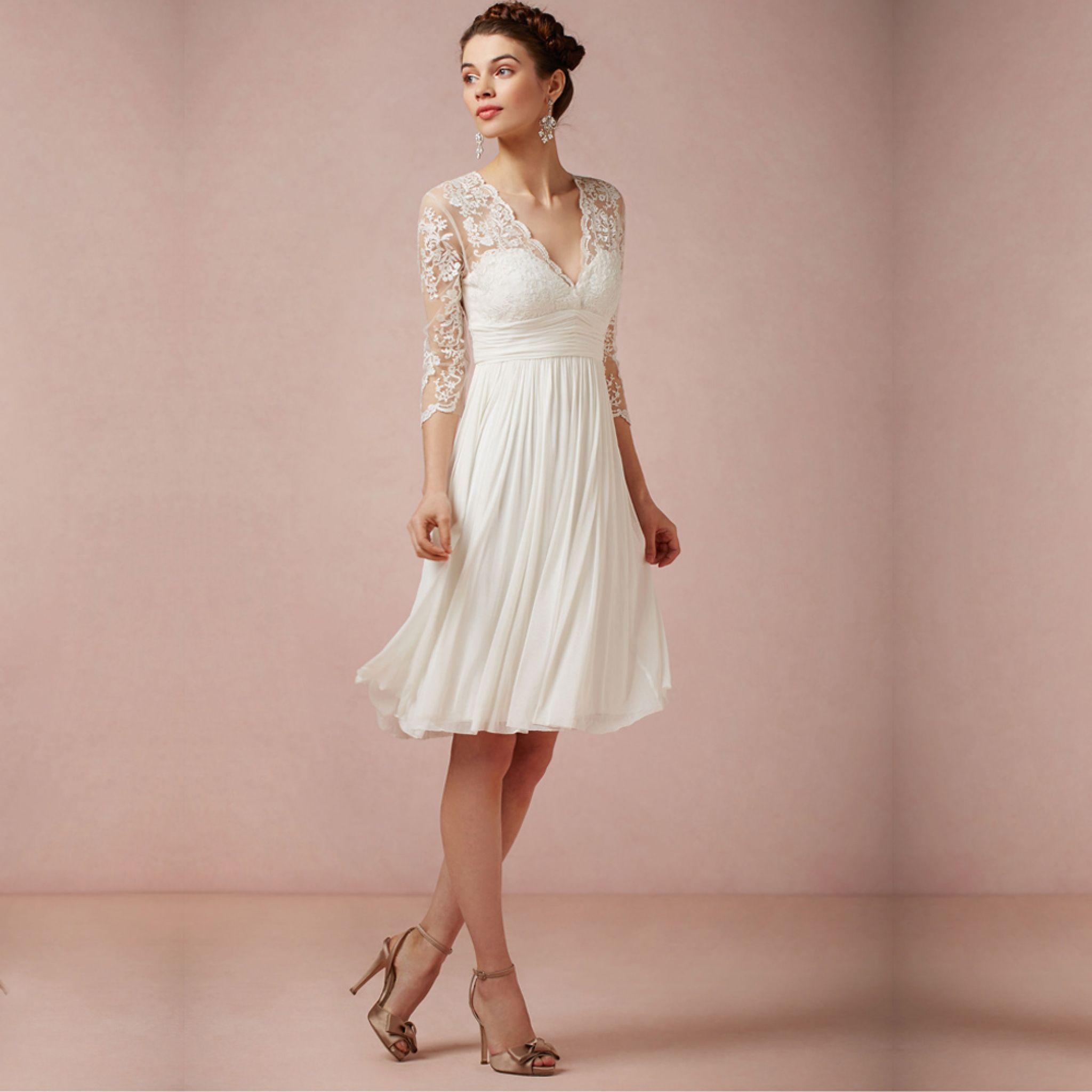 simple knee length wedding dresses - plus size dresses for wedding ...