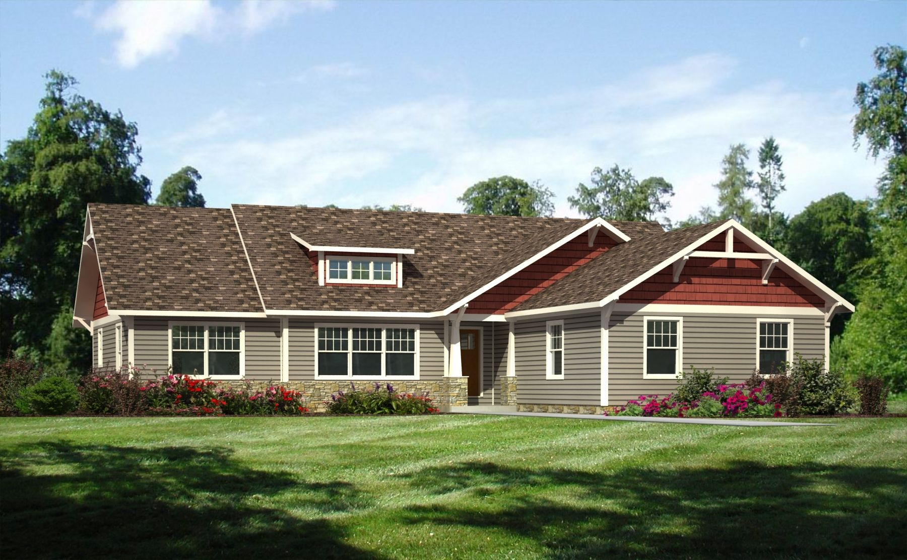 Exterior house color ideas ranch style - House