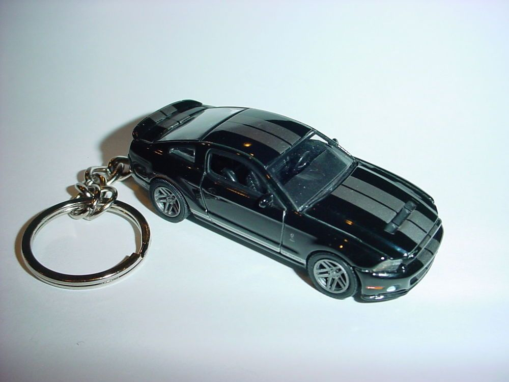 New 3d Black 2012 Ford Mustang Shelby Gt500 Custom Keychain