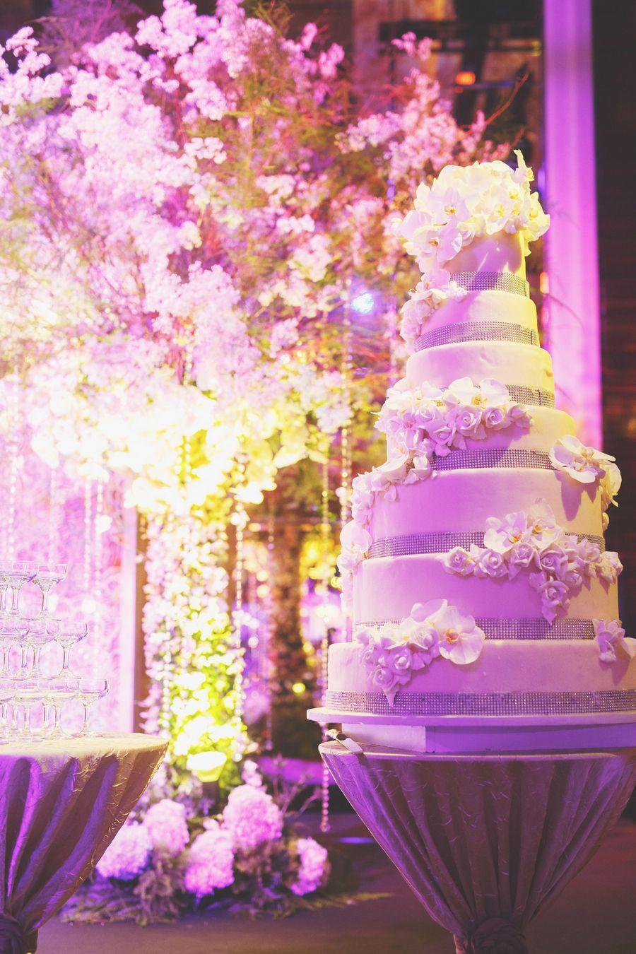 St. Regis Wedding Bathed in Purple Light: Ben and Amanda | Cakes ...