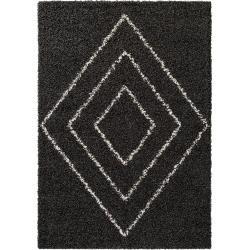 Photo of benuta Hochflorteppich Beni Anthrazit 80×150 cm – Berber Teppich benuta
