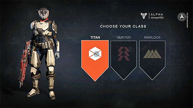 Class selection screen Character classes Character