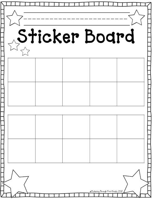 Fluttering through first grade stick to good behavior linky  freebie frames sticker chart also free printable reward and incentive charts rh pinterest