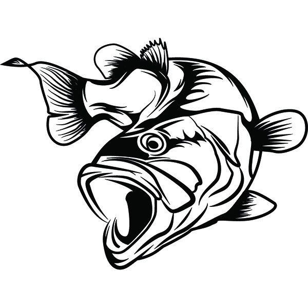Bass Fishing 31 Logo Angling Fish Hook Fresh Water Hunting Etsy In 2021 Bass Fishing Tattoo Fish Drawings Fish Art