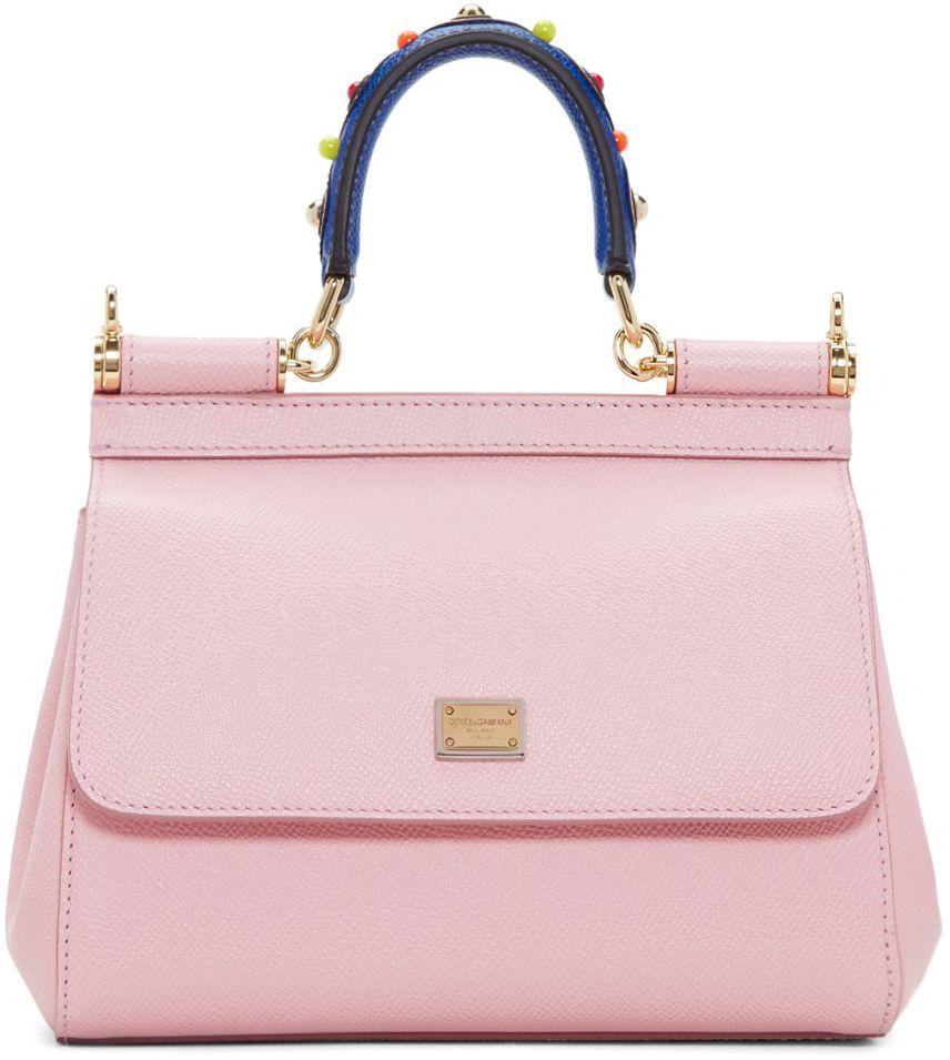 4a5649cd59 Dolce   Gabbana Pink Mini Miss Sicily Bag