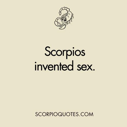 Scorpio And Scorpio Sexually