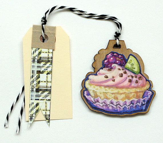 Tart Gift Tag Ornament by cleomade on Etsy