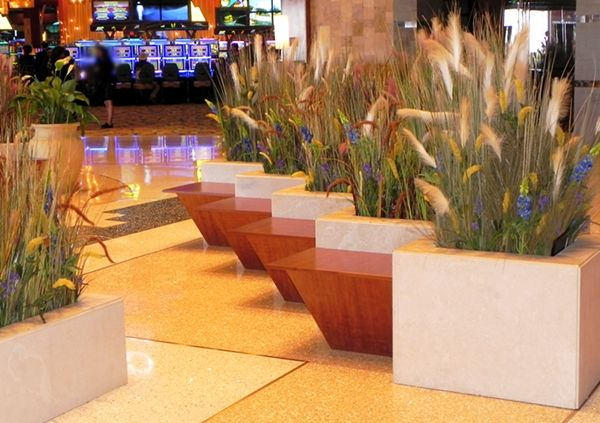 Artificial Grasses At Commercial Installation. We Planted These Artificial  Grasses At A Local Casino In