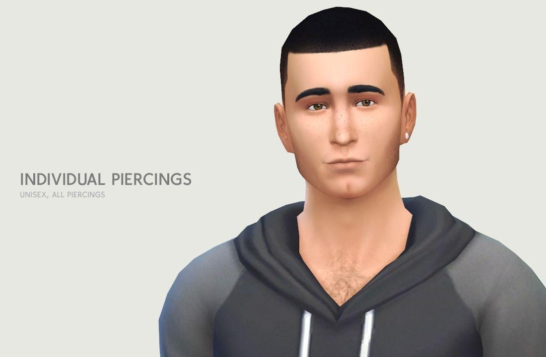 STATUS testing - by LumiaLover Sims - individual piercings