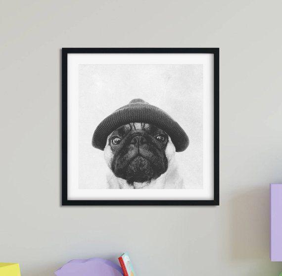 Pug Print Pug Art Dog Print Pug Wall Art Pug Poster Pug Gift