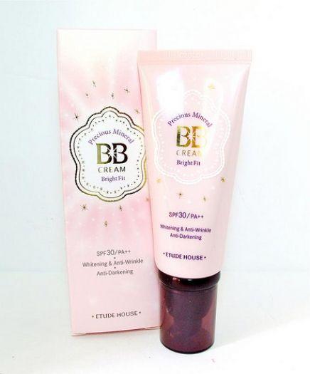 Natura Beauty Spray Produk Dari Mana: Etude House PRECIOUS MINERAL BB CREAM BRIGHT FIT