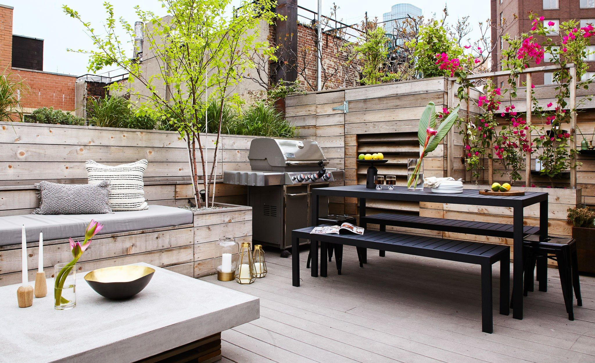 apartment patio privacy ideas wonderful manhattan   Hannah Bronfman and Brendan Fallis's New York City Triplex ...