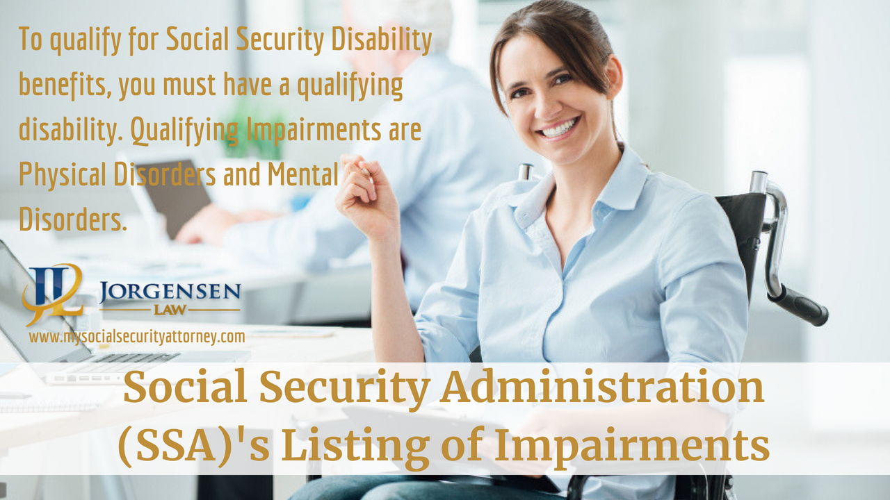 SSA's Listing of Impairments | Disability help, Disability ...