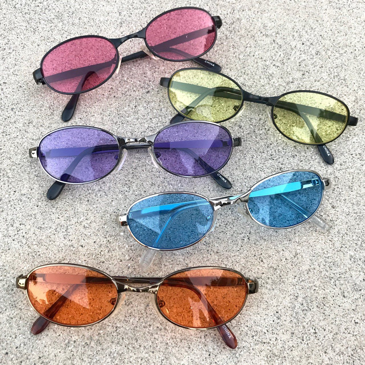 a636808bc44 90s   Y2K deadstock oval sunglasses in 5 amazing colored lenses to choose  from Message me with your color option! I m so obsessed with every color ...