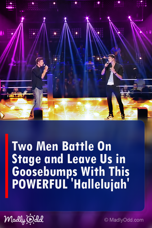 Two Men Compete On Stage Leave Everyone In Goosebumps By Singing Hallelujah Duet Music Singing Songs Enter Singing Hallelujah Music Sing Singing Videos