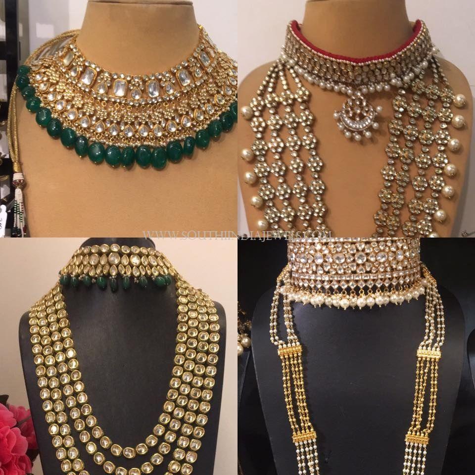 Generous Indian 925 Silver Kundan Bridal Jewellery Gold Finished Statement Necklace Set Fashion Jewelry