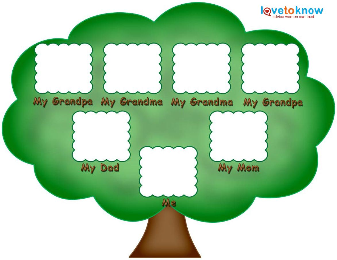 Preschool family tree family tree kids pinterest for Picture of a family tree template