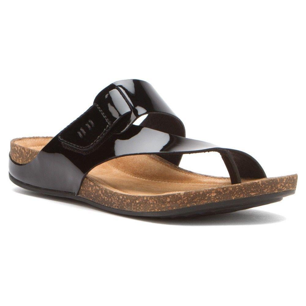 Clarks Perri Coast Clarks- Black Patent sandals