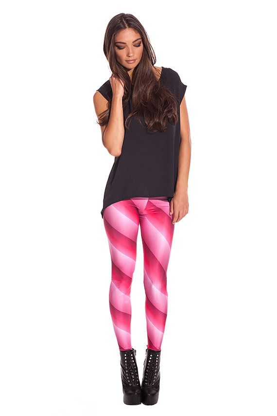 Pink Weapon Leggings / XS S M L/ High Contrasts / by BADINKA, €29.50