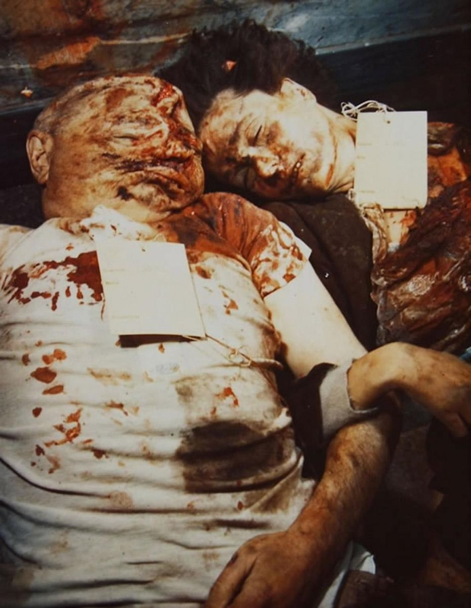 the end of a dictator the mutilated bodies of benito mussolini