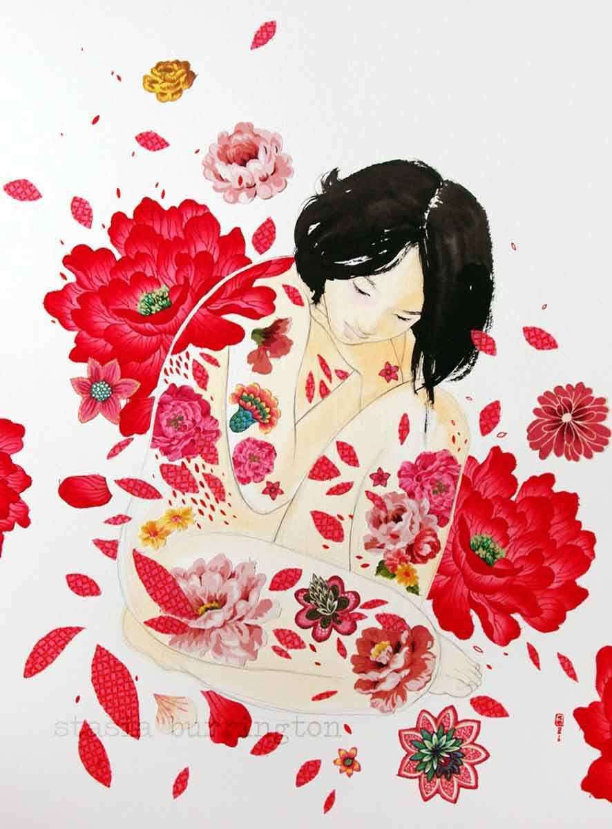 Red Petals by Stasia Burrington