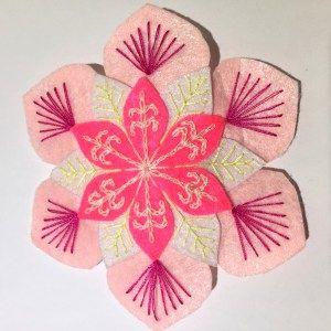Handmade Felt Hair Clip – Flower – HCF09