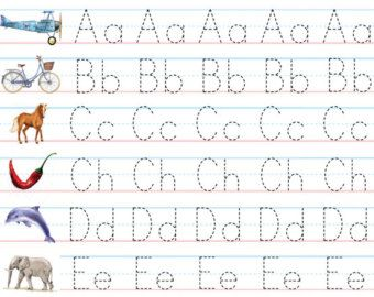alphabet writing practice sheets for preschoolers