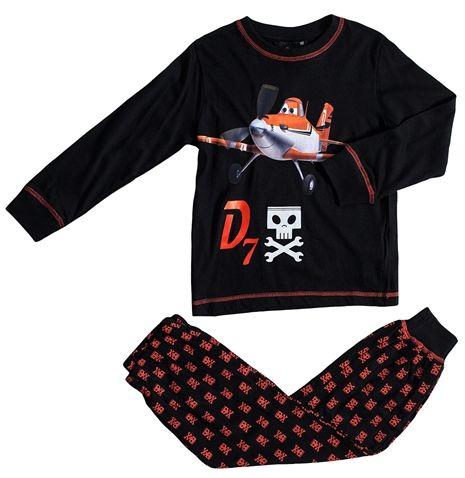 Disney Planes, Pyjama, Musta/Oranssi. Koko 122 cm. 15,92 €.