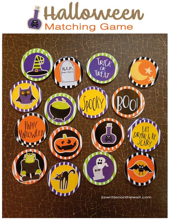 Halloween Matching Game-For All van ItsWrittenOnTheWall op Etsy