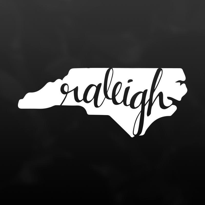 Raleigh north carolina vinyl decal sticker 8