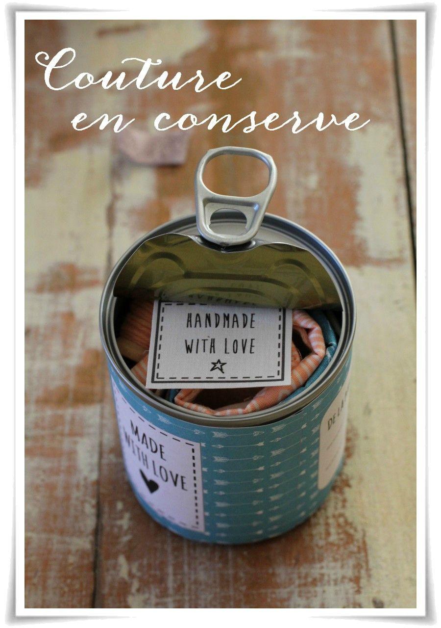 Tuto cadeau dans une boite de conserve c 39 est tr s sympa - Boite a couture gifi ...