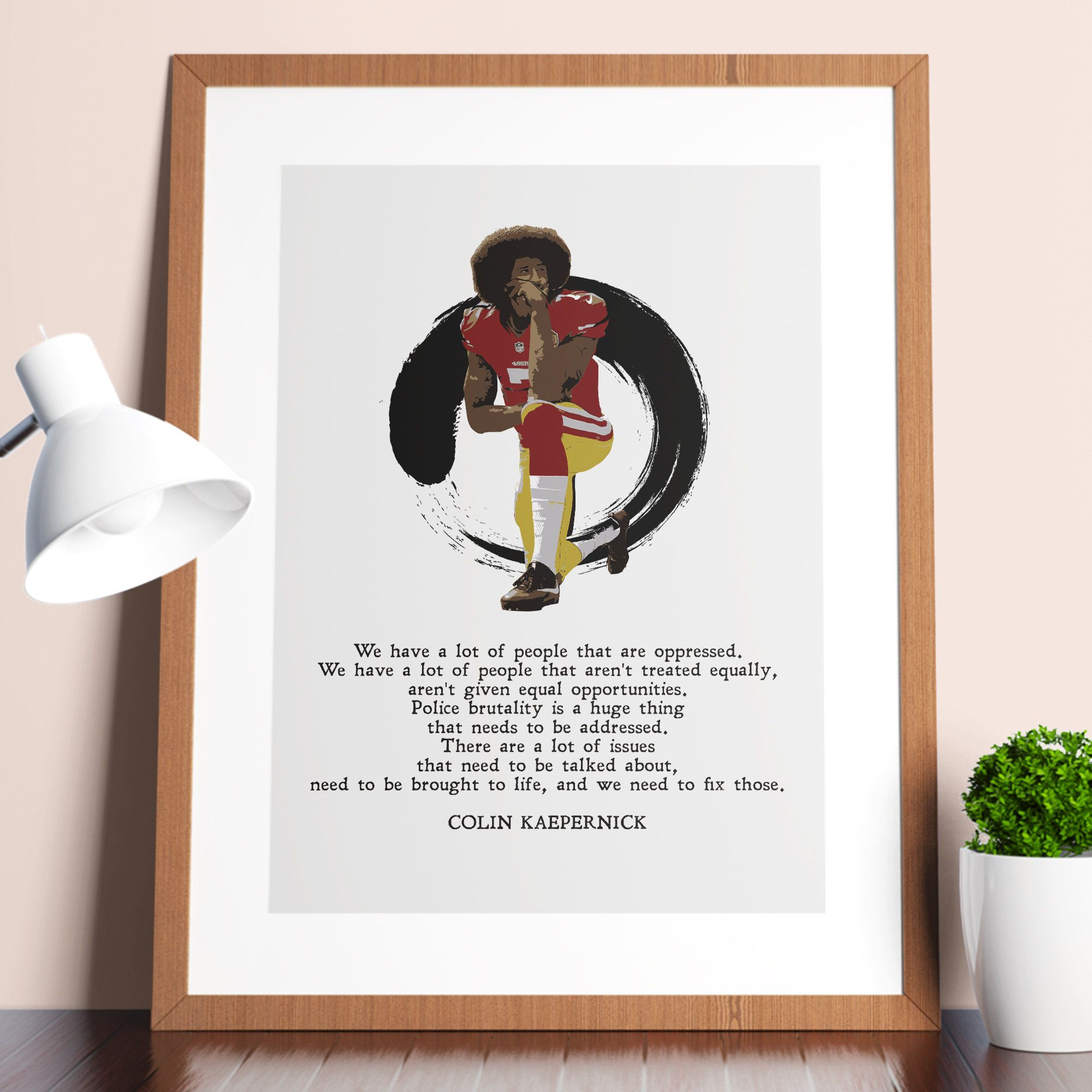 Colin Kaepernick Issues That Need To Be Talked About Civil Rights Black Lives Matter Print Wall Art Poster Instant Download Patriotic Posters Poster Wall Art Art Prints Quotes