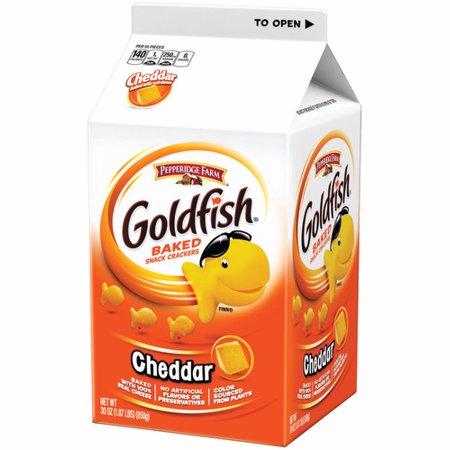 Pepperidge Farm Goldfish Crackers Cheddar 30 Oz Carton Walmart Com In 2021 Pepperidge Farm Goldfish Pepperidge Farm Cheddar Crackers