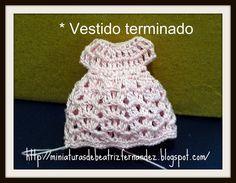Miniaturas de Beatriz Fernandez: TUTORIAL VESTIDO EN CROCHET