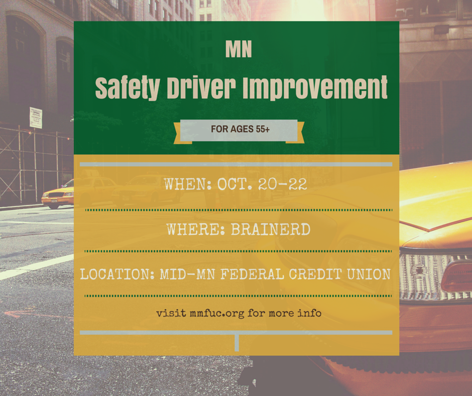 MMFCU is hosting a Driver's Safety Improvement Program Oct