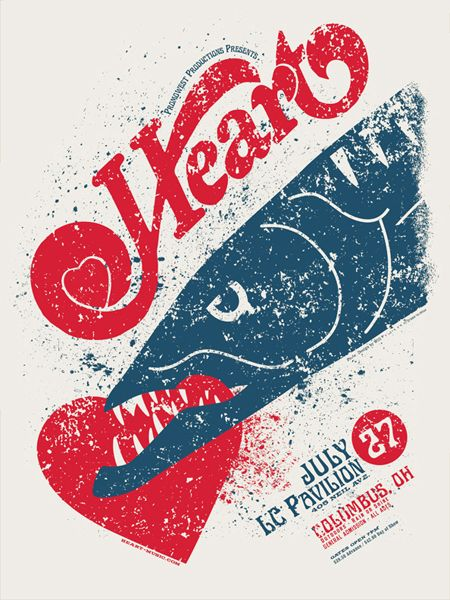 HEART Barracuda Concert Poster by Will Ruocco. #gigposter