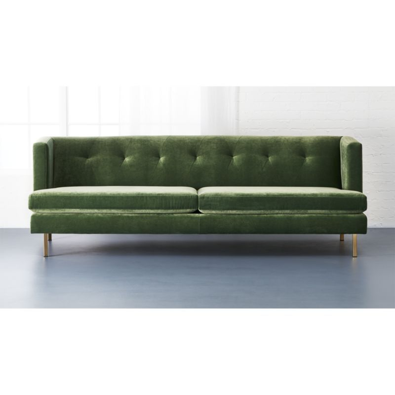 Avec Sofa With Brass Legs Cb2 Products I Love Pinterest