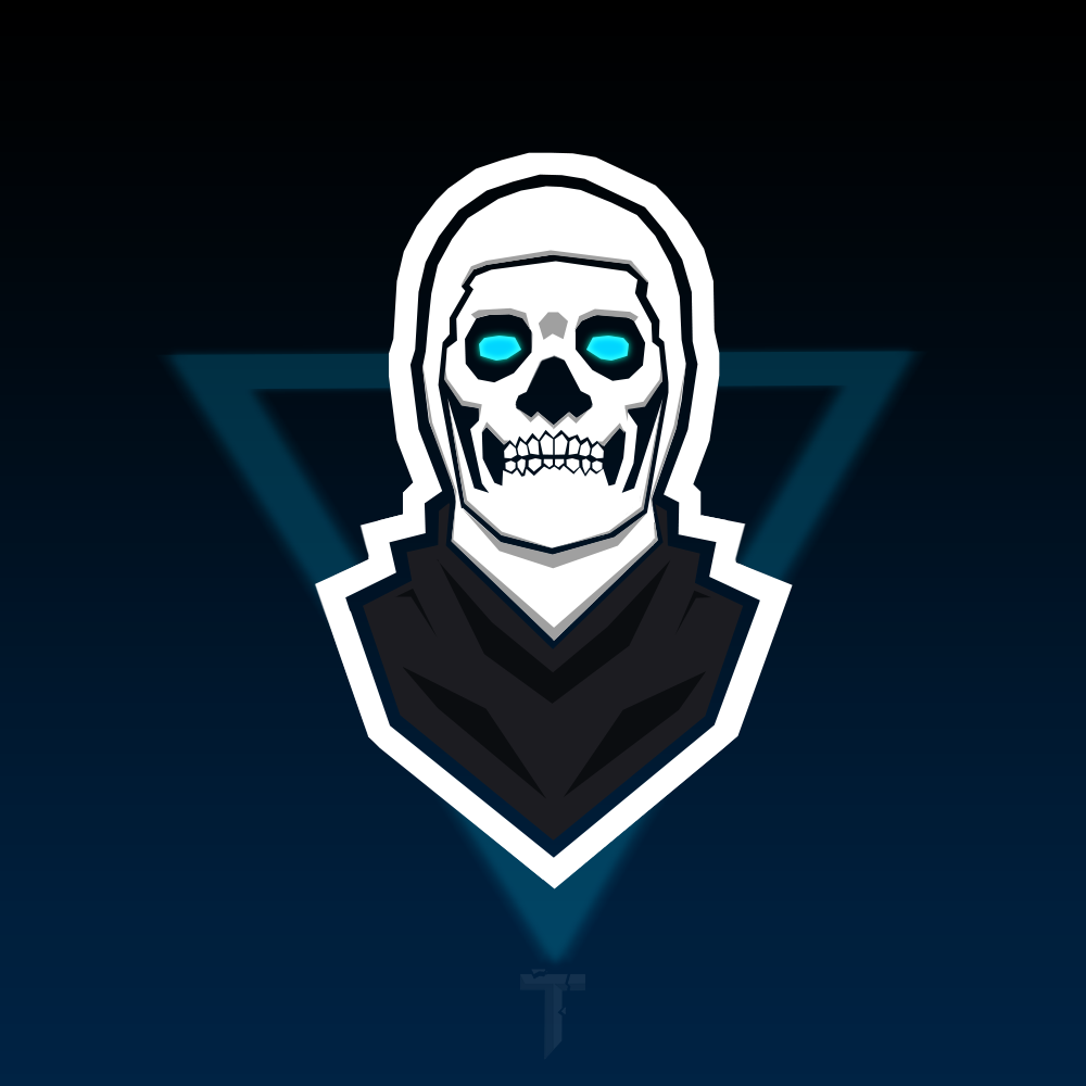 Fortnite Skull Trooper Mascot Logo Wallpaper Background With